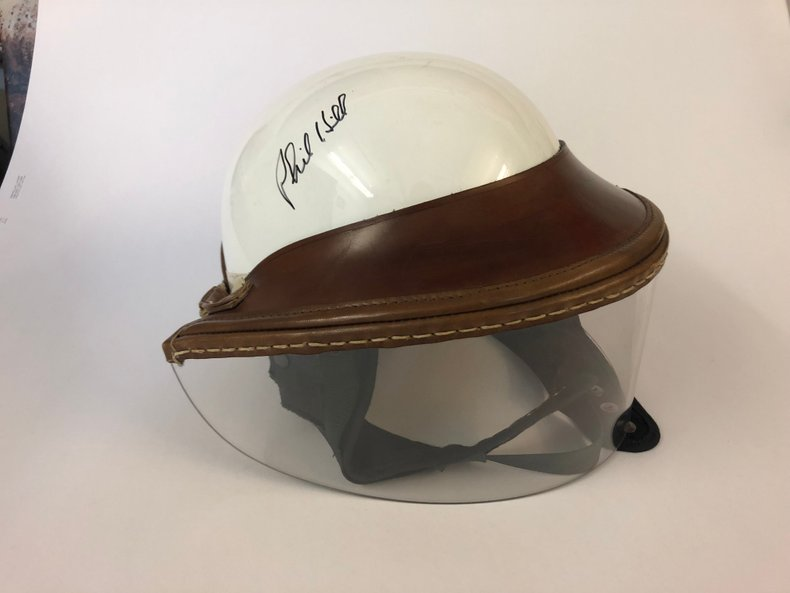 """Helmet """"1960 Replica"""" Signed by Phil Hill"""