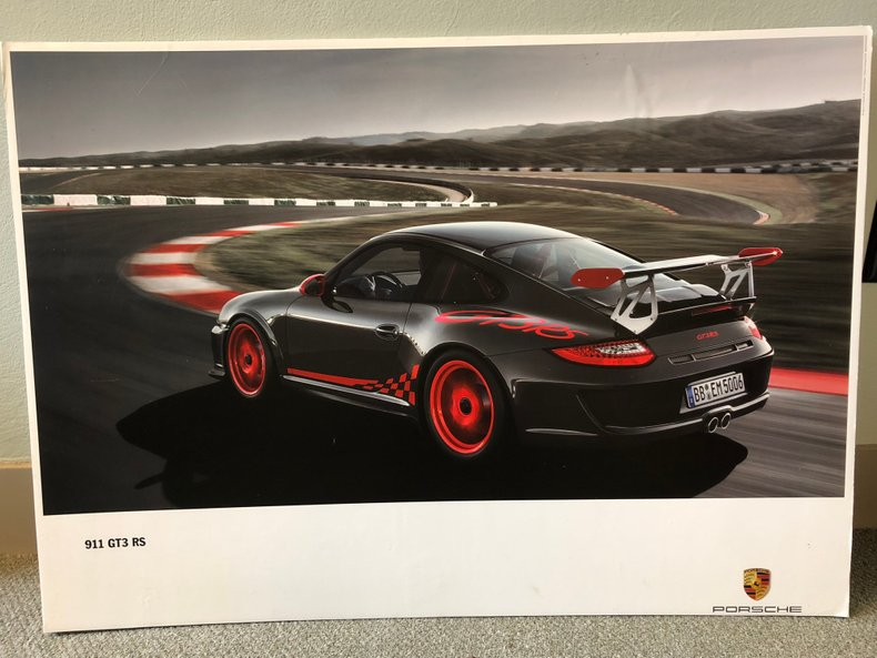 Mounted Factory Porsche Posters (Set of 3)