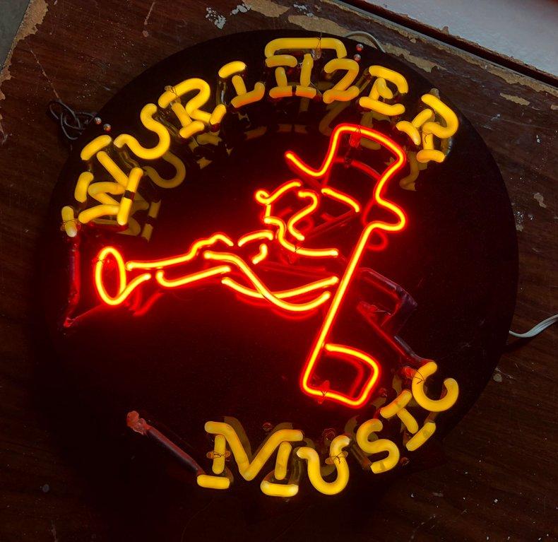 Wall Sign-Lighted WurlFizer Music