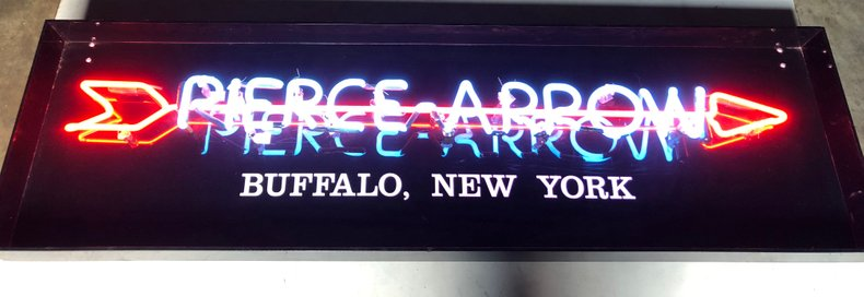 Wall Sign - Lighted Pierce Arrow, Buffalo NY