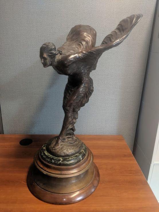 Charles Sykes Bronze Sculpture Spirit of Ecstasy