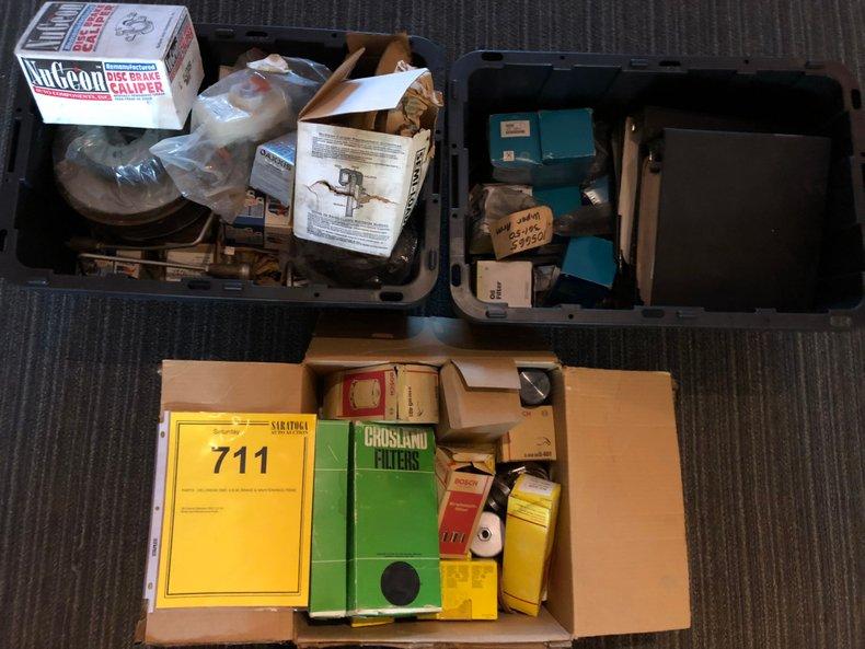 PARTS - Delorean DMC O.E.M. Brake & Maintenance Items