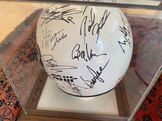 Racing Helmet Autographed 1993 Indy 500 M. Schumacher Official Bell Formula 1