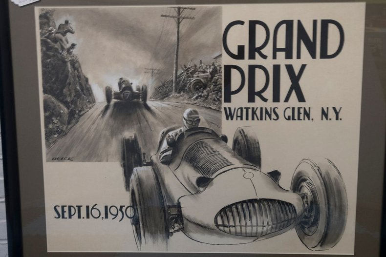 1950 Watkin's Glen Program Artwork Original Peter Helck