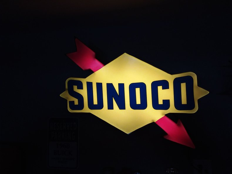 Sunoco Gas Light-Up SIGN