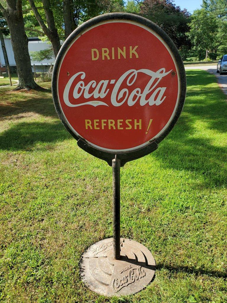 Coca-Cola Vintage Porcelain Lollipop Stand