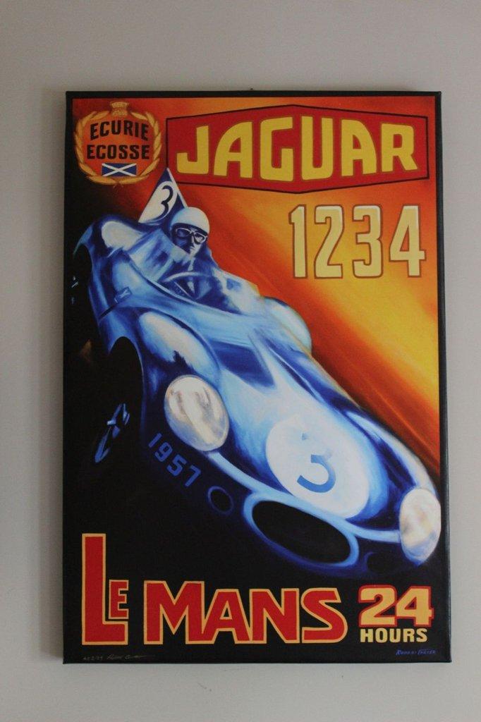 LeMans 24 Hours Jaguar - on Canvas
