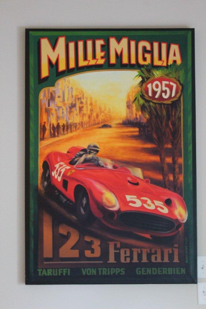 Ferrari 1957 Mille Miglia - on Canvas