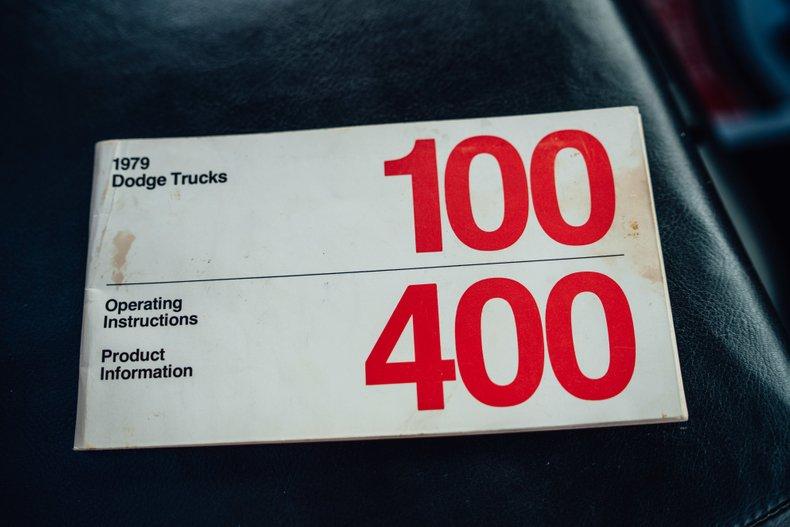 1979 Dodge D150 Li'l Red Express 35