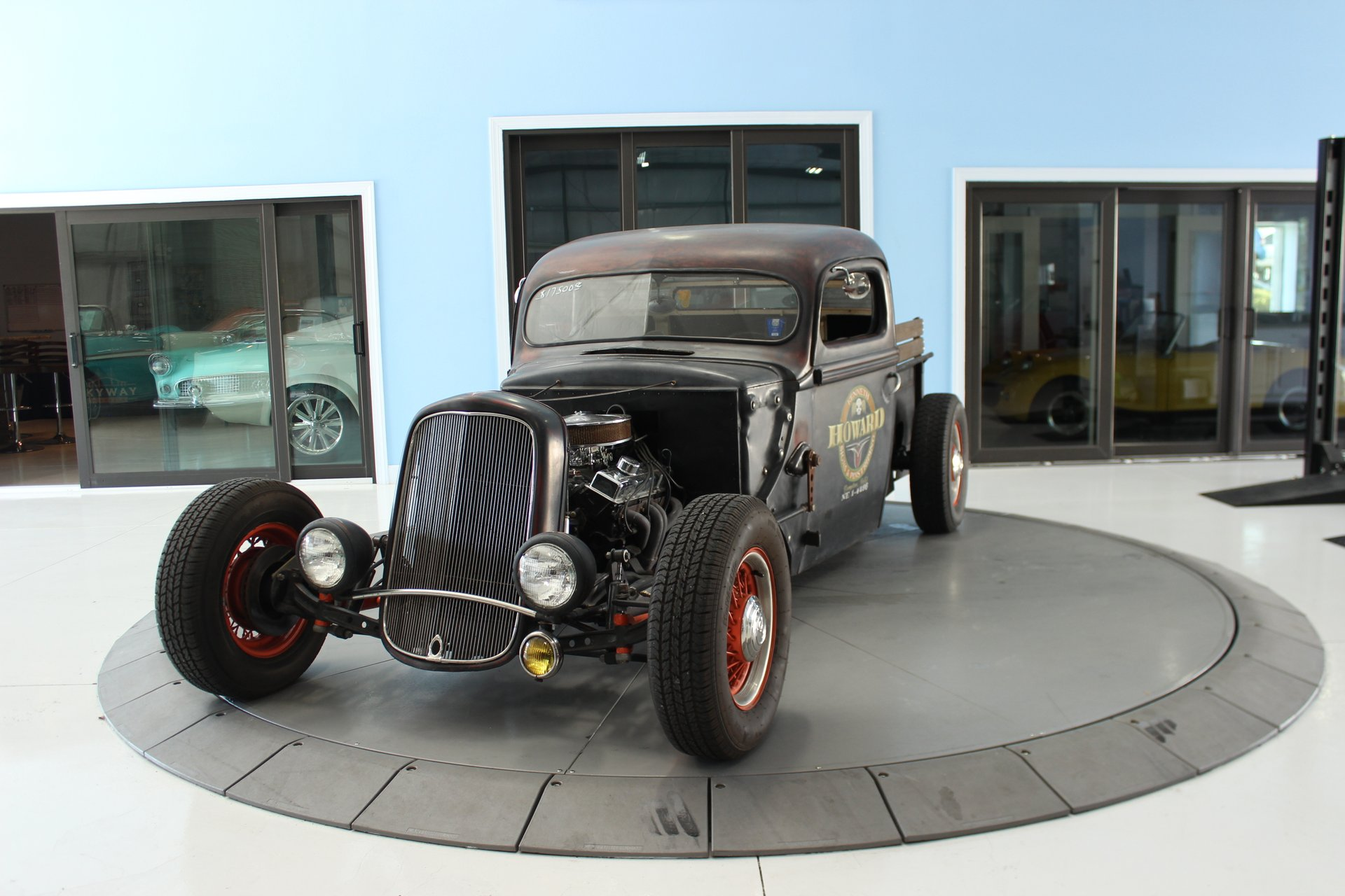 1946 ford 3 window rat rod