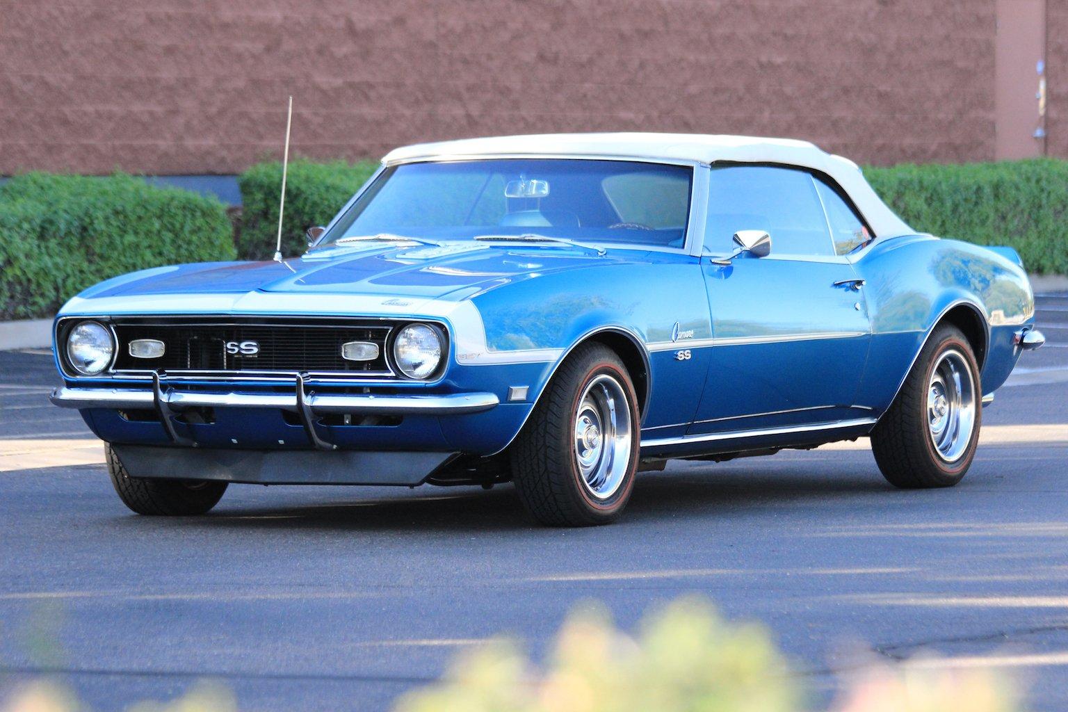 1968 Chevrolet Camaro Classic Collectible Vehicle Storage Blue
