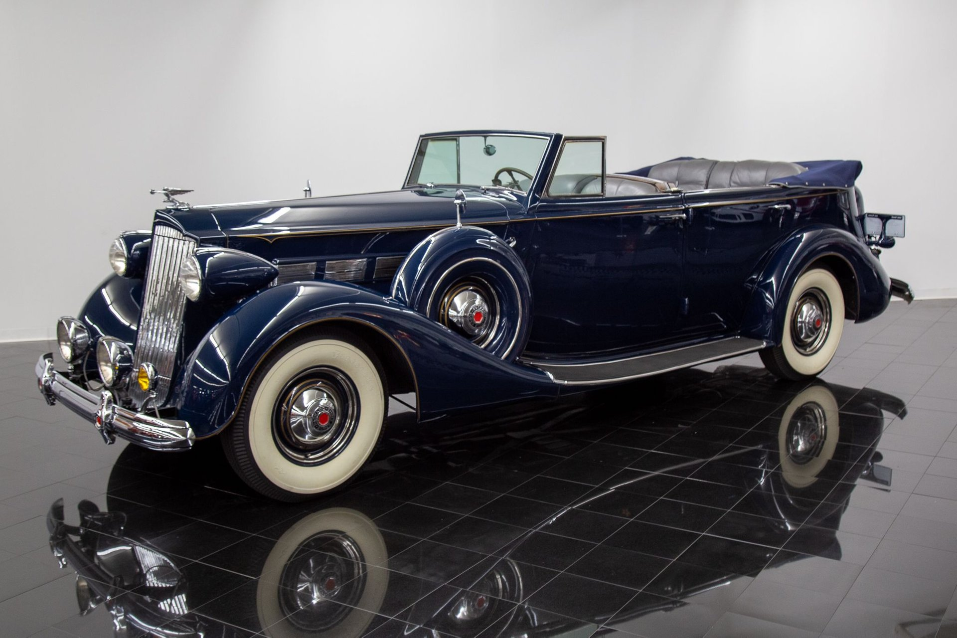 1937 packard 1502 super eight convertible sedan