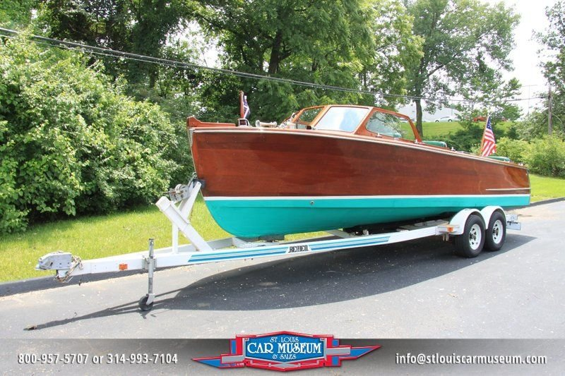 1950 hutchinson boat utility mahogany boat