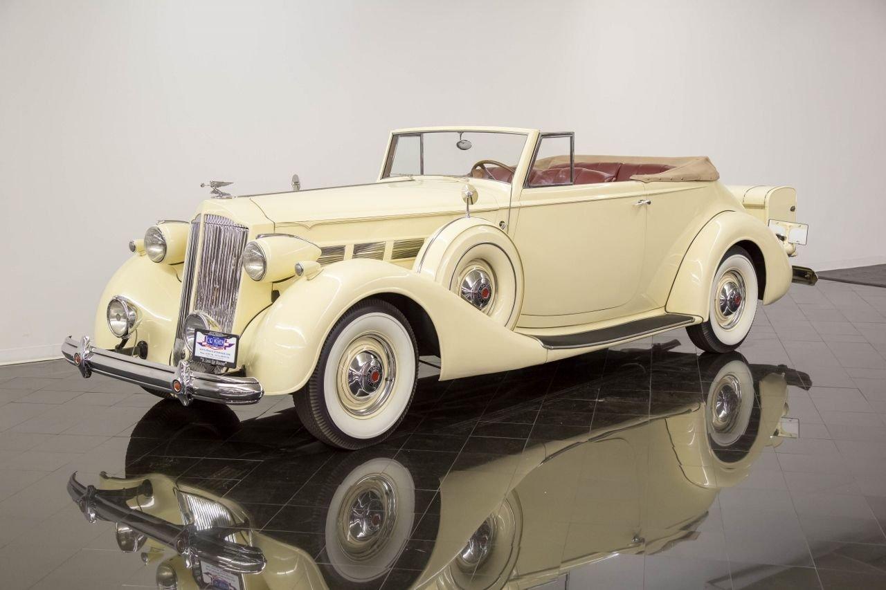 1937 packard super eight eight 1501 convertible victoria