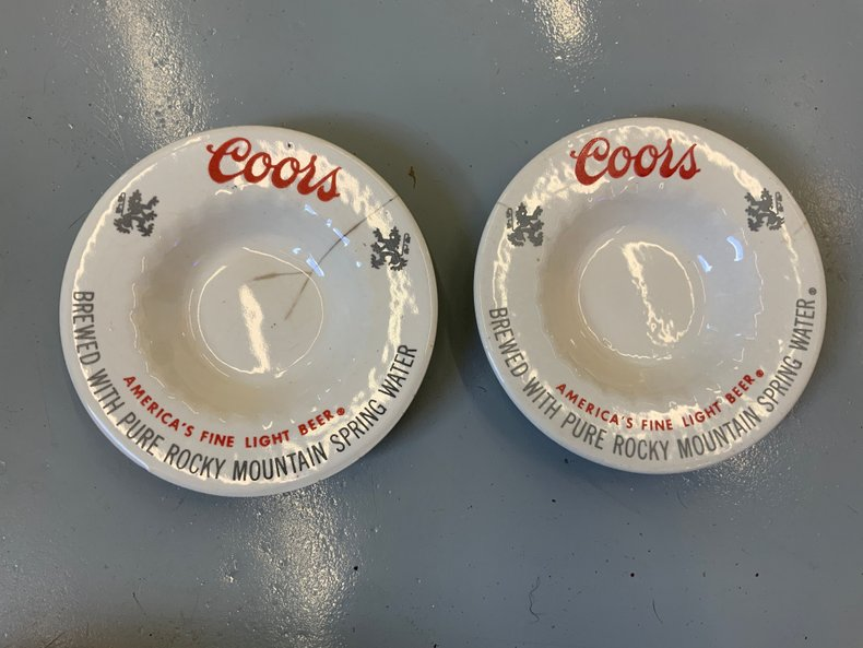 Vintage COORS ash trays