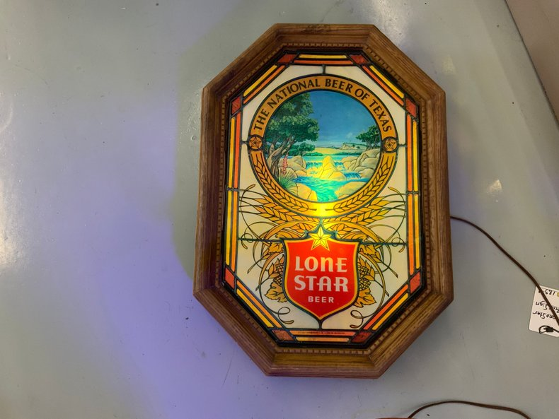 Lone Star Plaque Beer Light