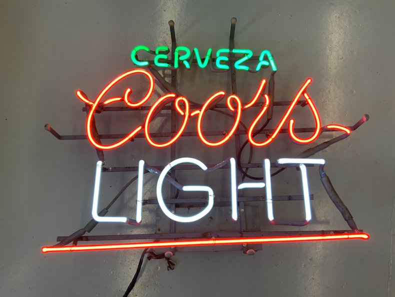 ORIGINAL Cerveza  COORS LIght beer neon