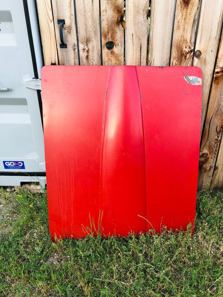 63-67 Corvette hood Great Wall art or repair to use