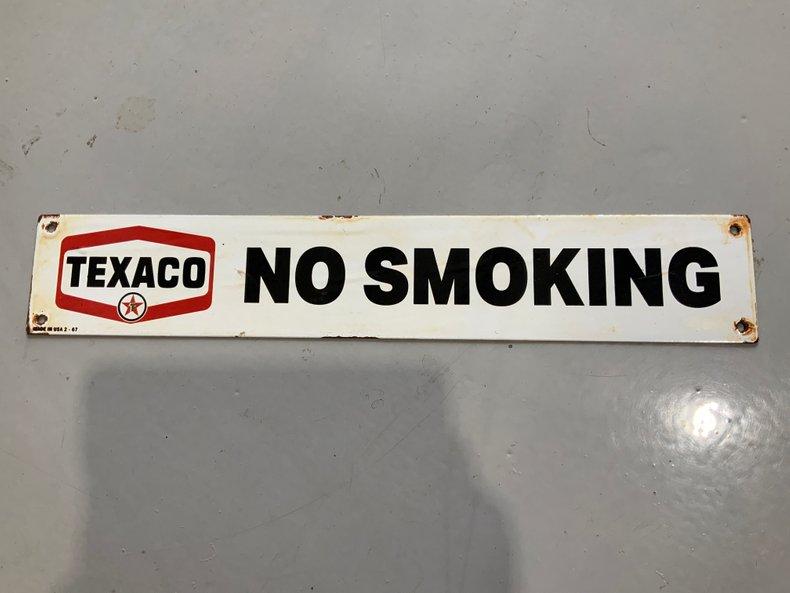 ORIGINAL 1967 PORCELAIN NO SMOKING SIGN