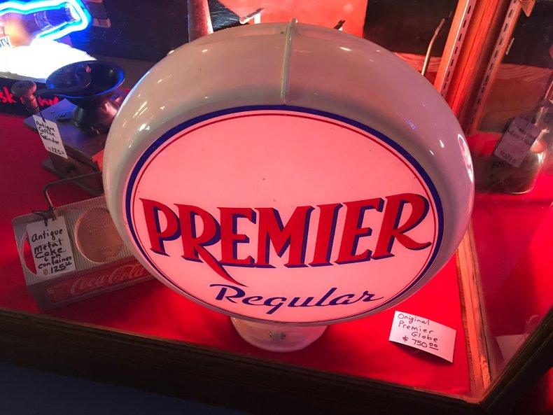 Original Premier gas pump globe