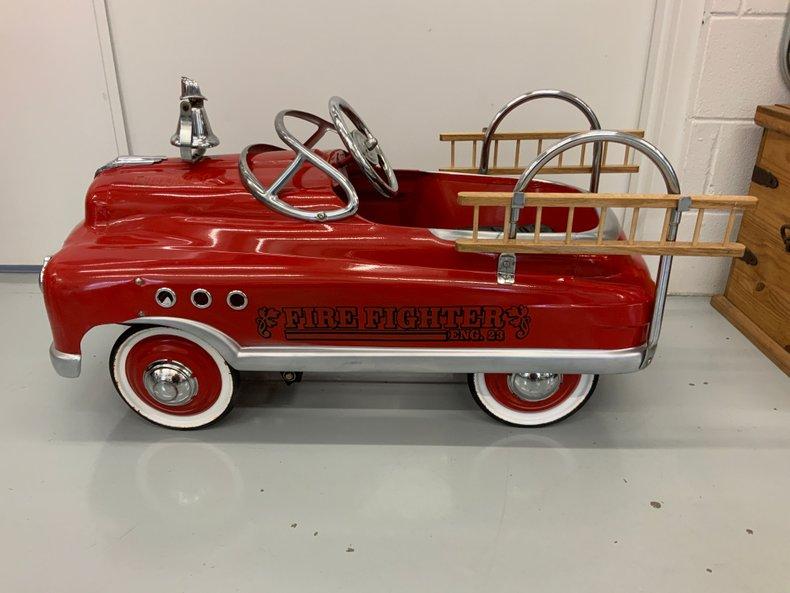 Original fire truck pedal car