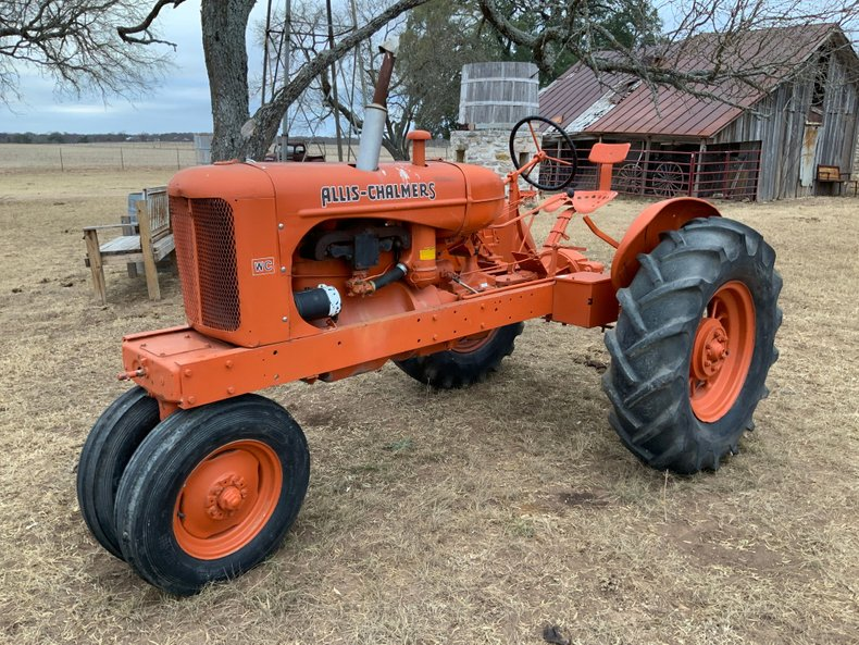 Antique Allis Chambers tractor yard art