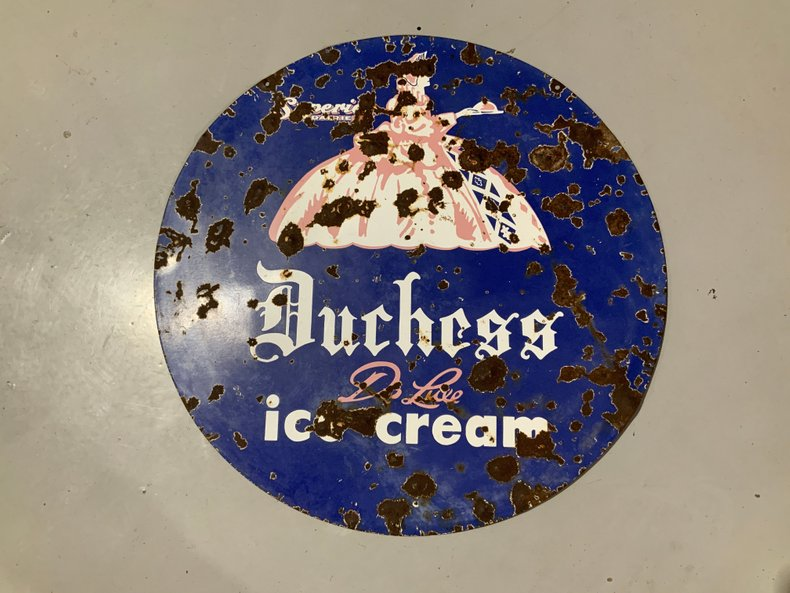 Antique Duchess Ice Cream sign