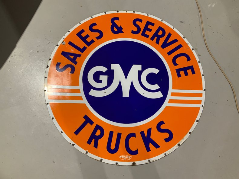 Original GMC Dealer sign double sided