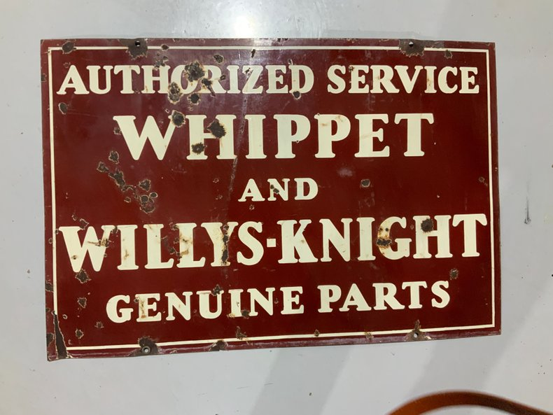 Original Whippet and Willys Knight sign