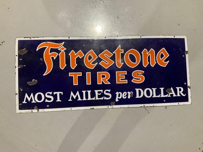 Porcelain Firestone Tires Sign