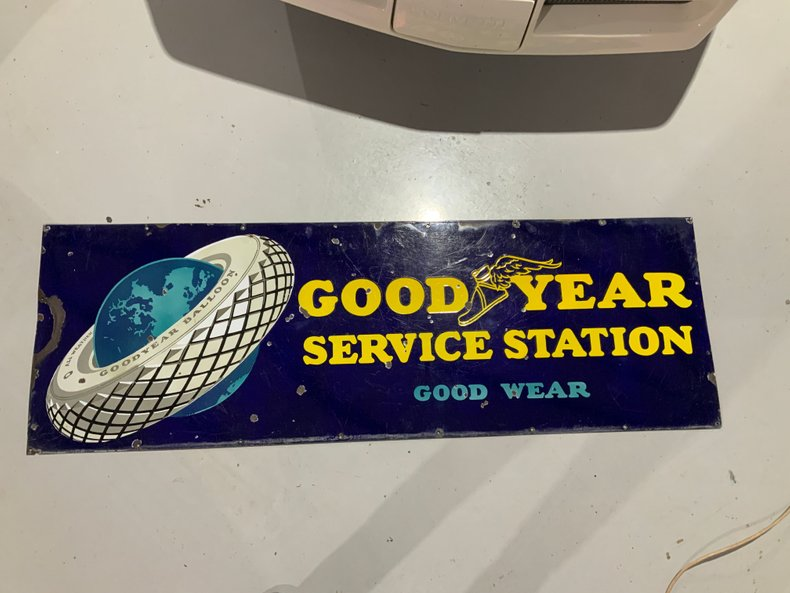 20's Goodyear Tire sign.  Very good condition.