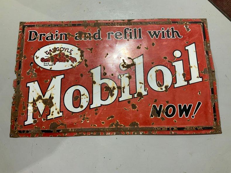 Very rare Gargoyle Mobil sign