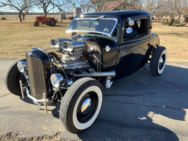 1932 Ford 3 Window Coupe Hot Rod 350 dual 4's cold ac freakin Cool