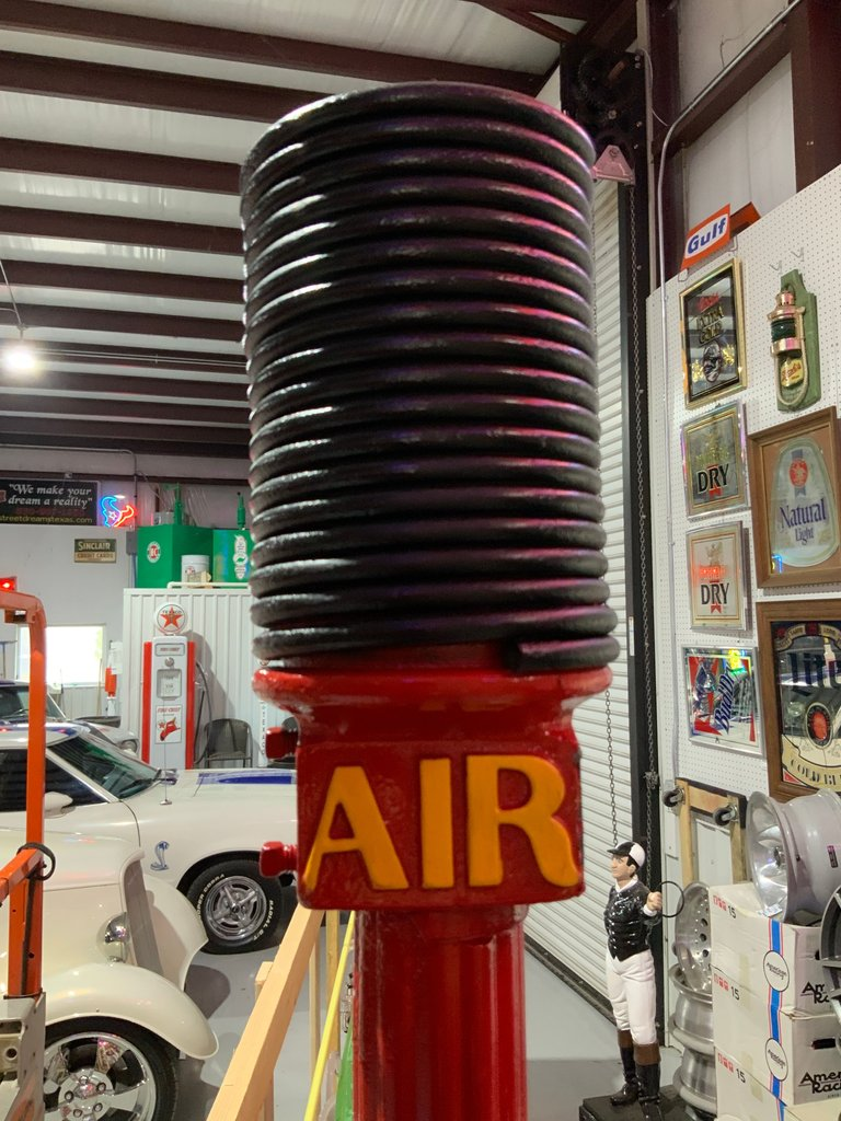 Original 20's-30's AIR station pole restored