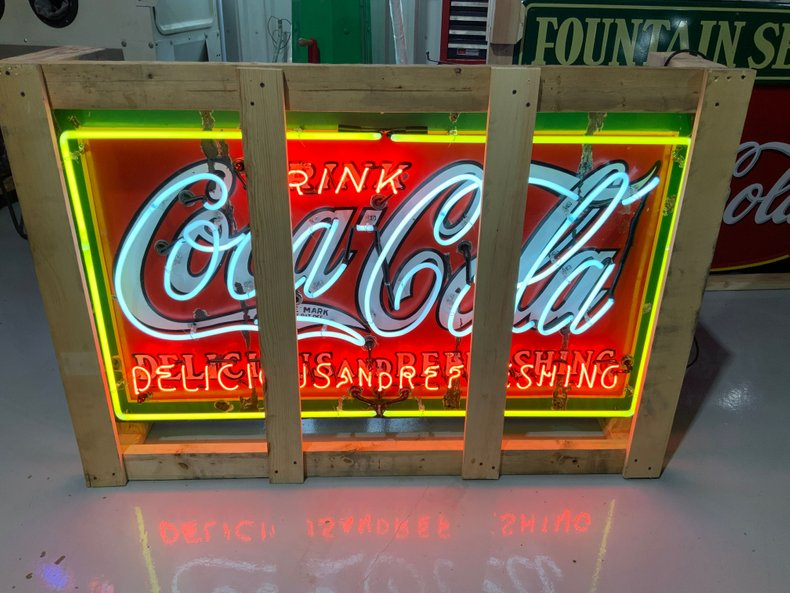 Rare size original Coke sign with all new neon and transformer.
