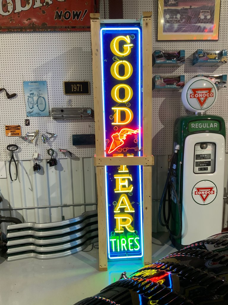 Original Goodyear sign with all new neon and transformer.
