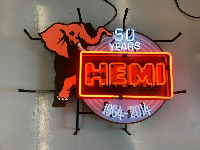 50 Years of Hemi Dealer neon sign