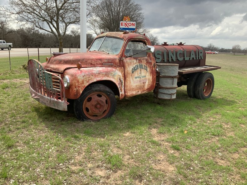 STUDEBAKER tanker yard art display