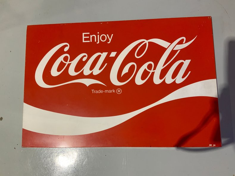 1966 Nice condition Coke sign