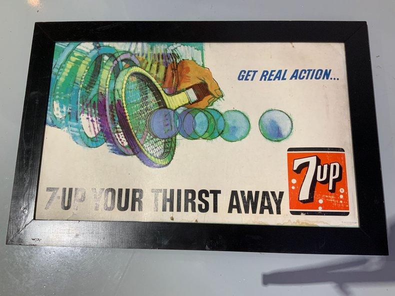 Rare 7UP advertisement sign