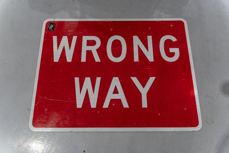 Original Wrong Way Street Sign