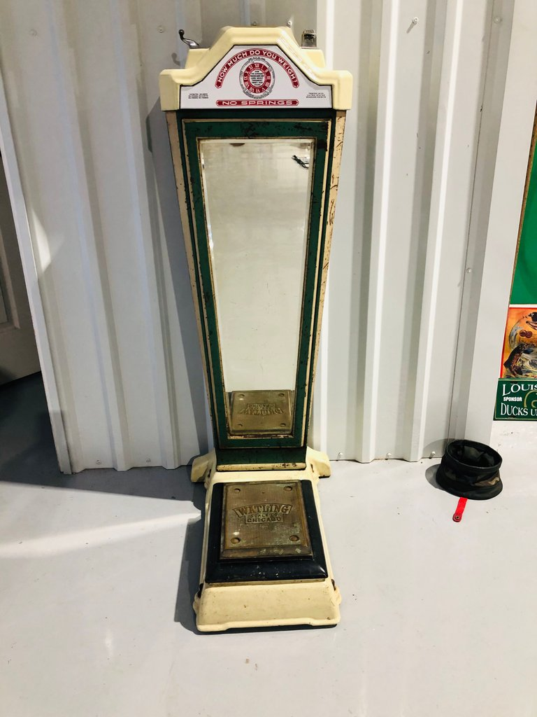 Original Watling coin operating weigh