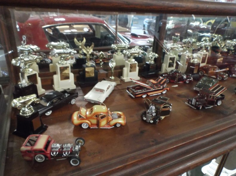 Collection of hand built model cars from the 60's.