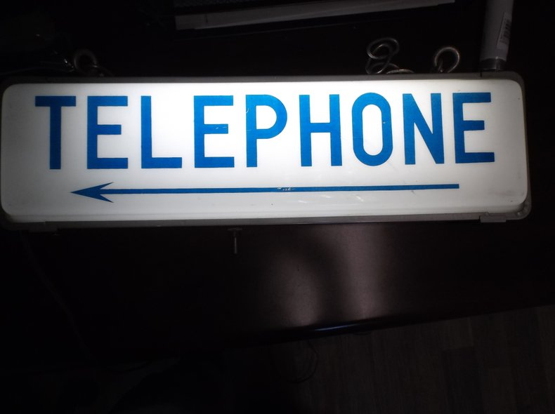 Hanging Light-Up Telephone Sign