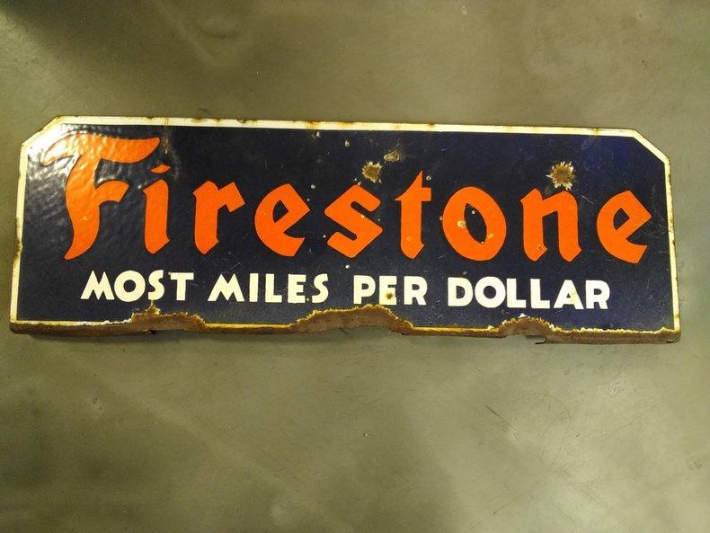 Porcelain Firestone Sign