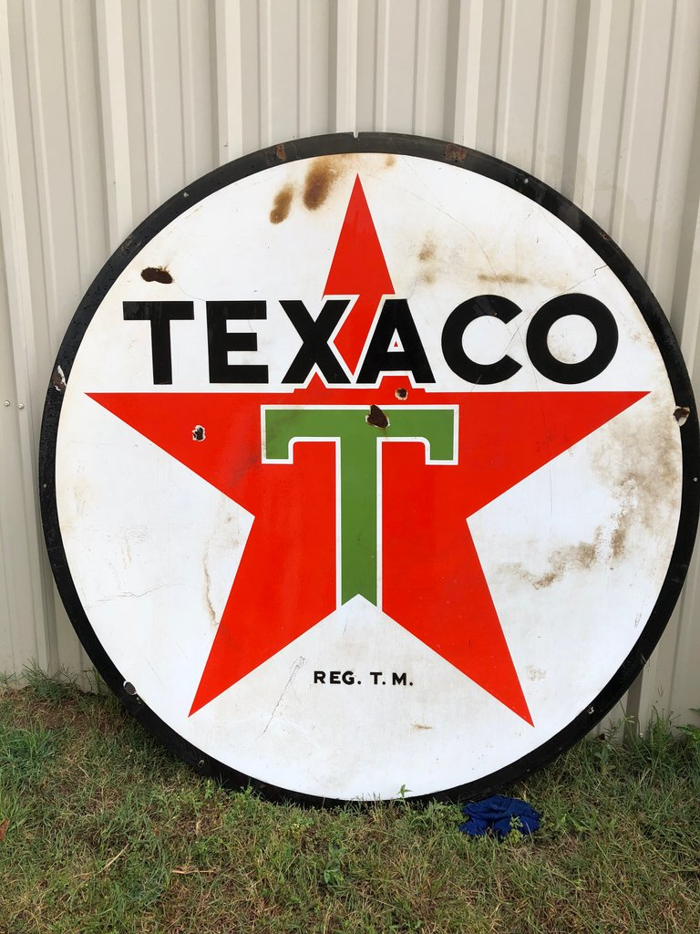 1938 Round Texaco Sign