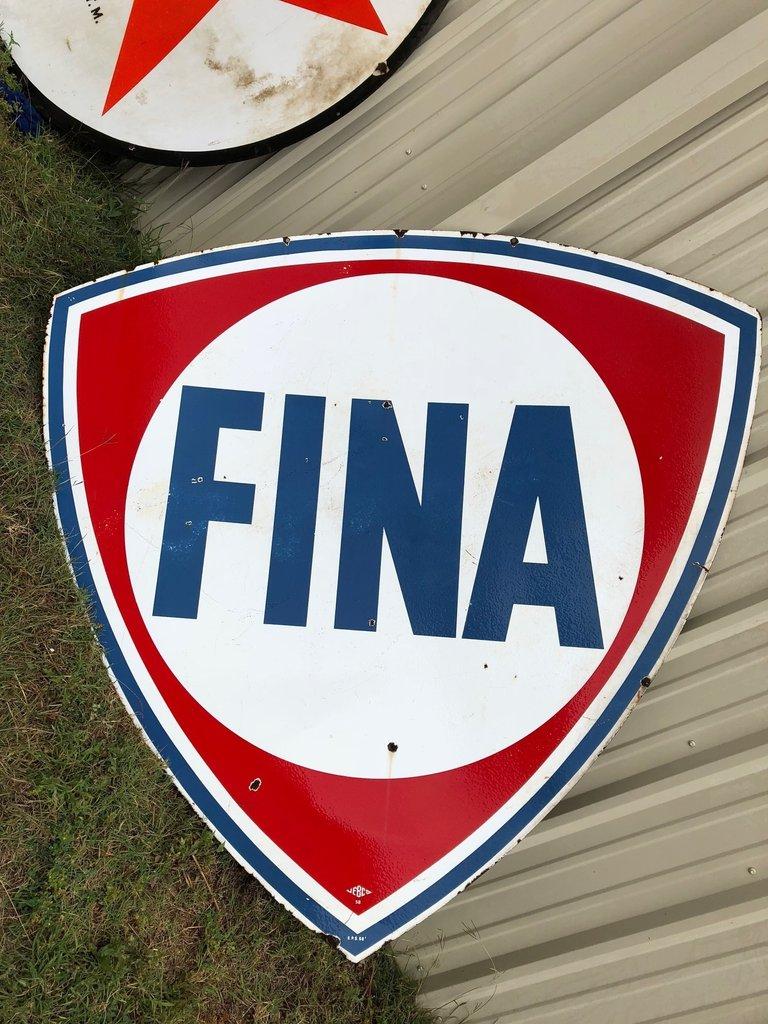 1958 Fina Shield Sign