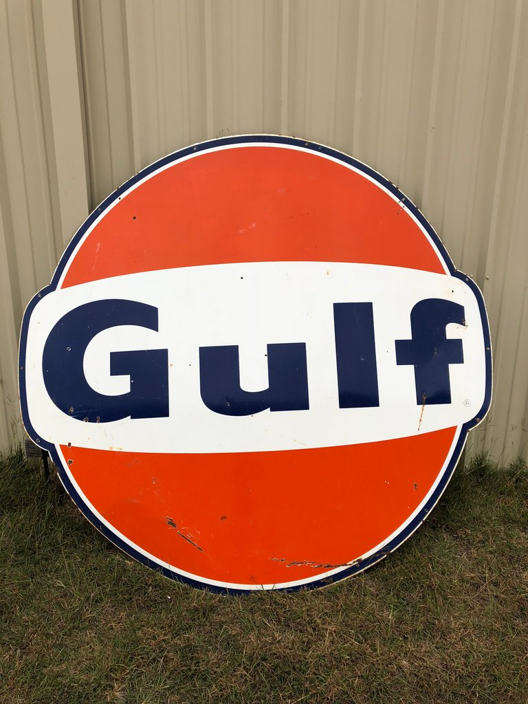 6 Foot One-Sided Gulf Sign