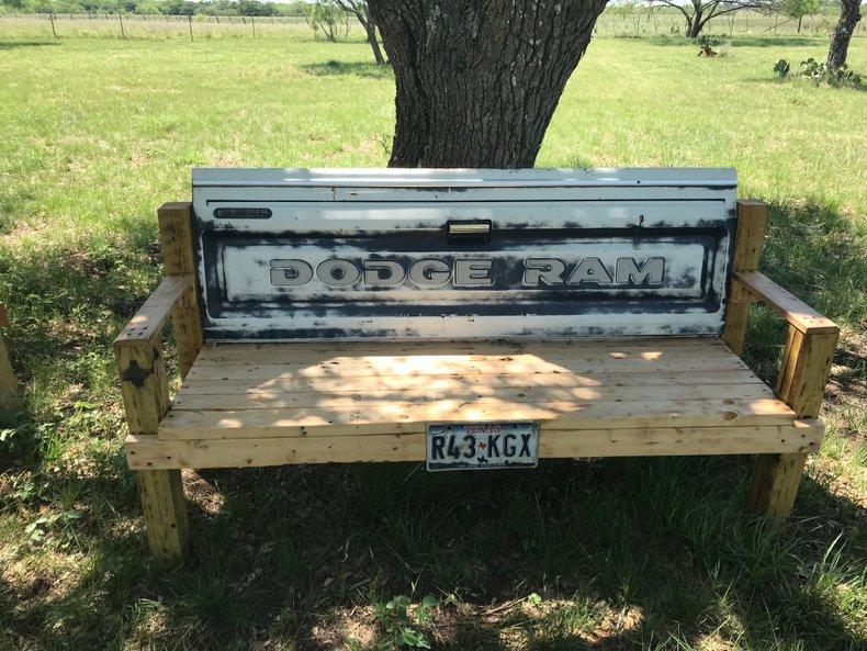 80's Dodge Ram Tailgate Bench