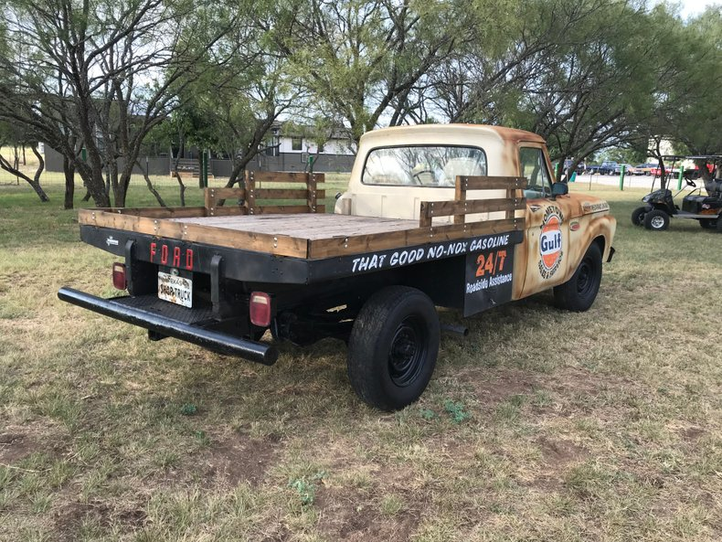 1965 Ford F250 Gulf Service truck 3/4 ton 390 V8 4 spd for
